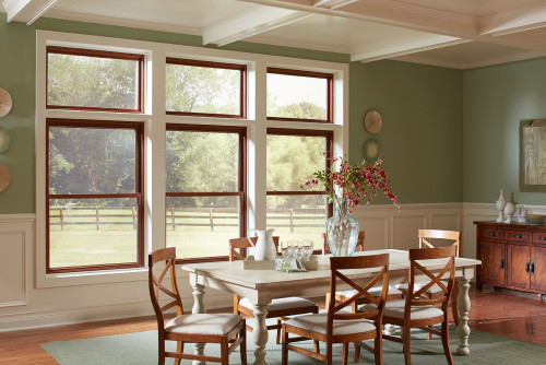 Double Hung Windows with Transom