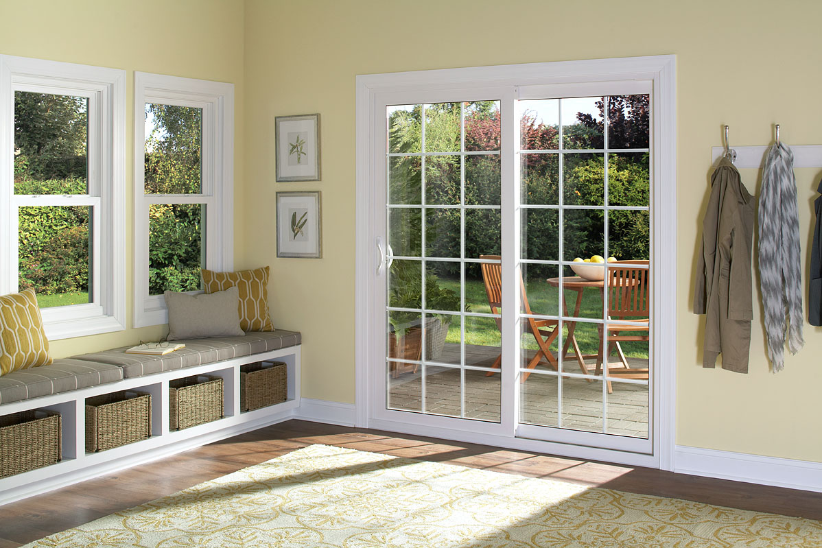 Contemporary Patio Door With Colonial Grids