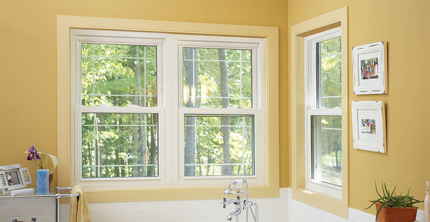 Double Hung Replacement Windows 12 Over 12 : Double hung windows vinyl replacement window