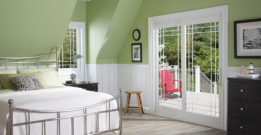 French Rail Patio Door with Double Prairie Grids